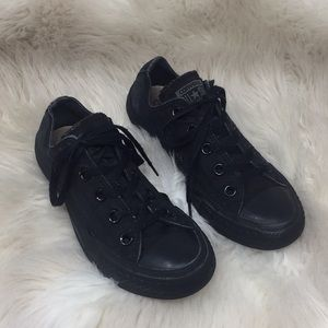 Women's Black Converse Sneakers Shoes